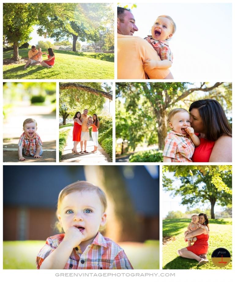One Year Old Baby Photos - Folsom Family Photographer