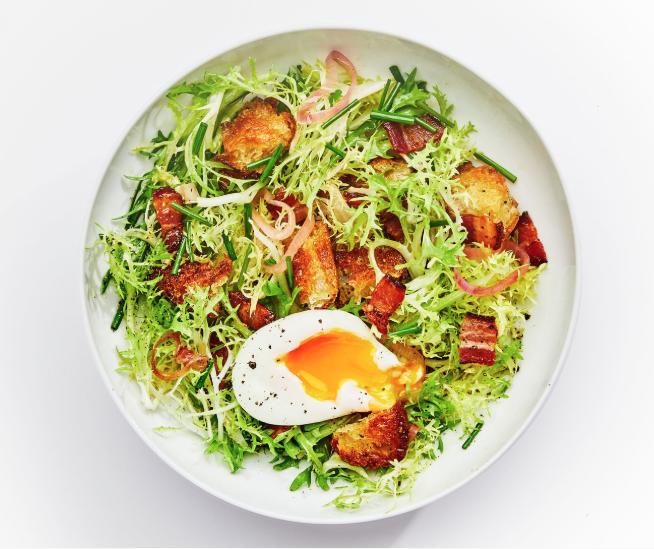 Frisée Salad With Warm Bacon Vinaigrette