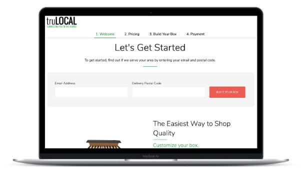 screen cap of tru local websites