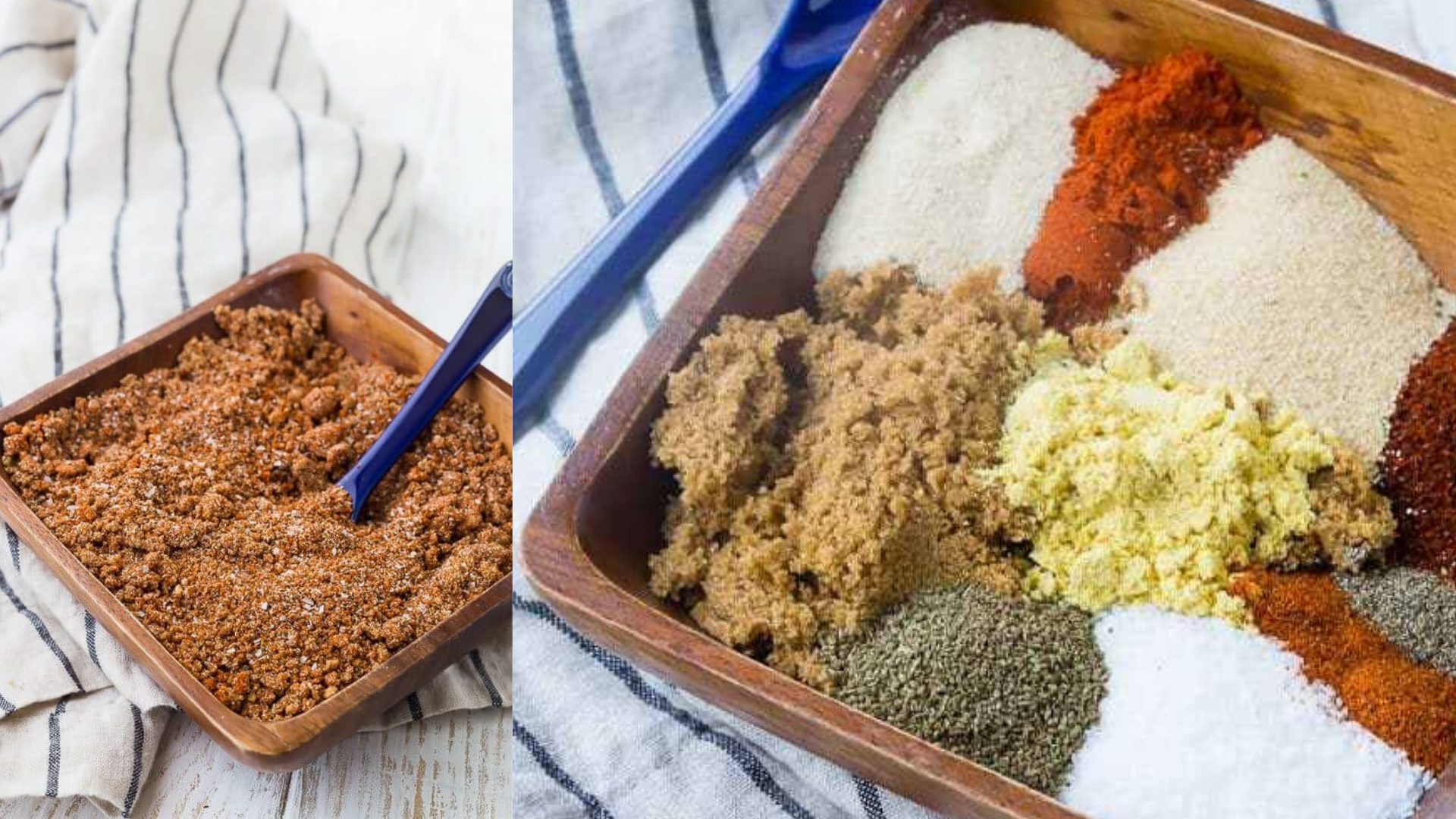 image of rachel coks easy homemade bbq rub recipe with different ingredients