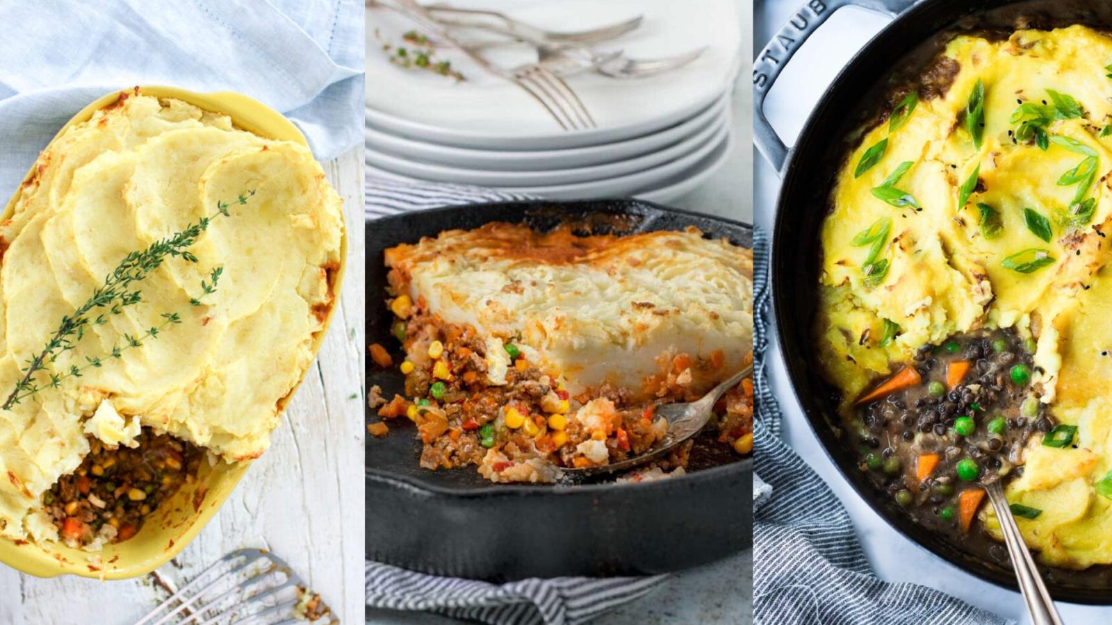 image of three shepherd's pie recipes