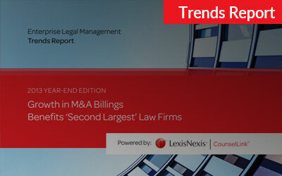 2013 CounselLink Enterprise Legal Management Year-End Trends Report