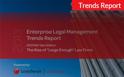 2013 CounselLink Enterprise Legal Management Mid-Year Trends Report