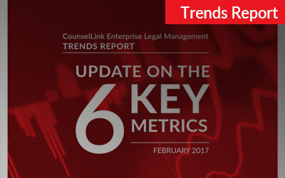 2017 CounselLink Enterprise Legal Management Trends Report