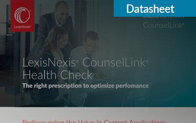 LexisNexis CounselLink Health Check