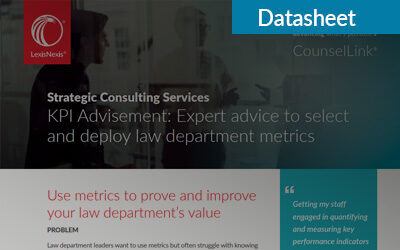 KPI Advisement: Expert advice to select and deploy law department metrics