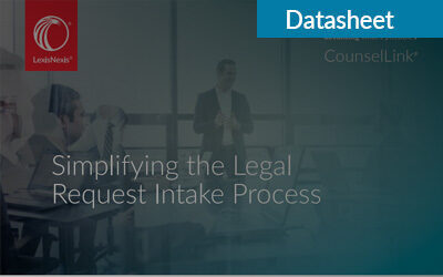 Simplifying the Legal Request Intake Process