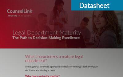 Legal Department Maturity