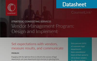 Vendor Management Program: Design and Implement