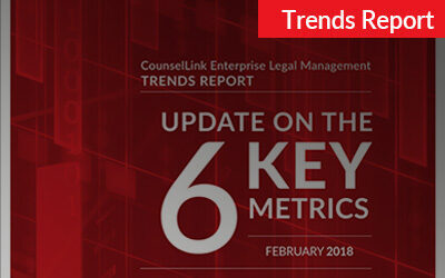 2018 CounselLink Enterprise Legal Management Trends Report
