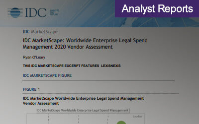IDC MarketScape Worldwide Enterprise Legal Spend Management 2020