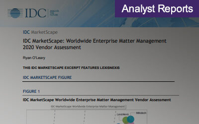 IDC MarketScape: Worldwide Enterprise Matter Management 2020 Vendor Assessment