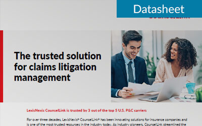 The trusted solution for insurance claims litigation management