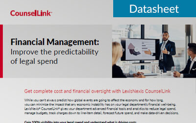 Financial Management: Improve the predictability of legal spend