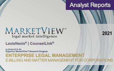 Hyperion's 2021 Enterprise Legal Management MarketView Report