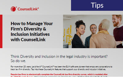 How to Manage Your Firm's Diversity & Inclusion Initiatives with CounselLink