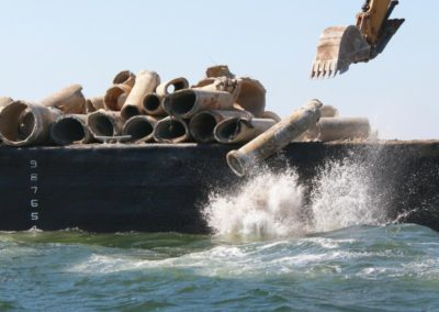 Culverts placed in Gulf from Casino Magic Barge
