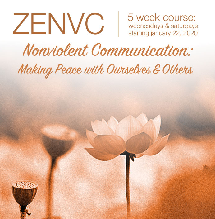 Nonviolent Communication: Making Peace with Ourselves and Others - 5 week course, Wednesdays & Saturdays, Starting January 22, 2020