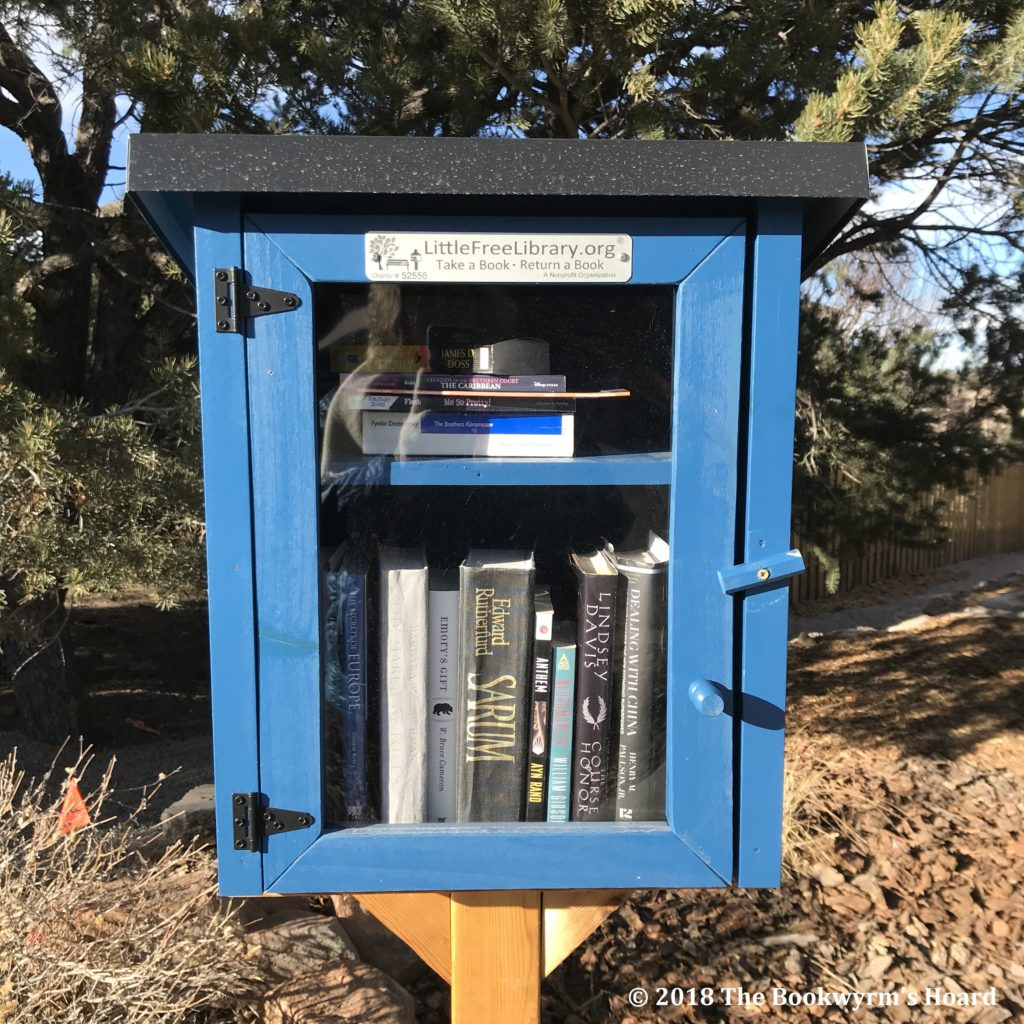 Little Free Library, Los Alamos, NM (photo © 2018 K. Pekar and The Bookwyrm's Hoard)
