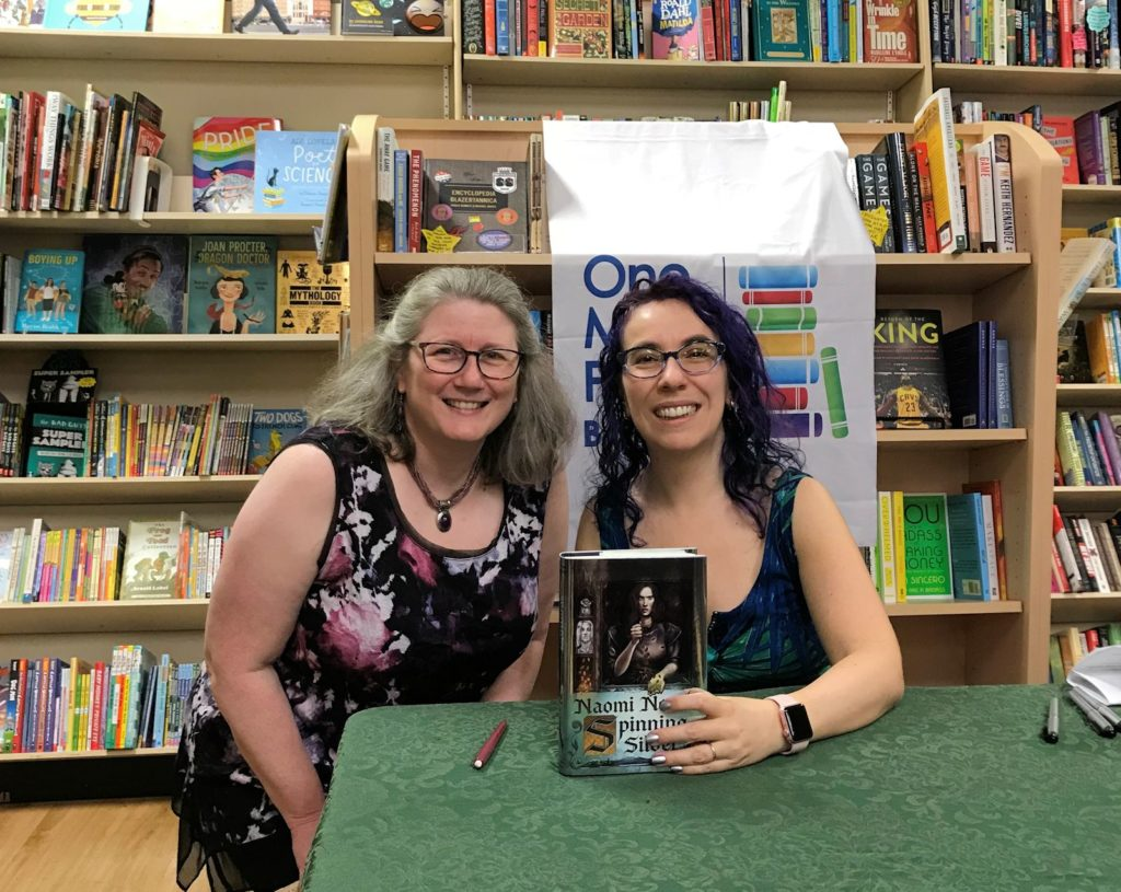 photo of blog owner Lark with Naomi Novik at a book signing