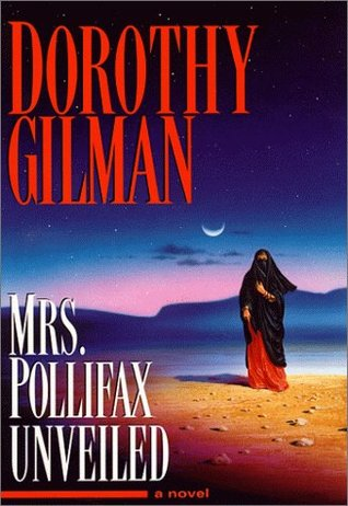 Book cover: Mrs. Pollifax Unveiled by Dorothy Gilman