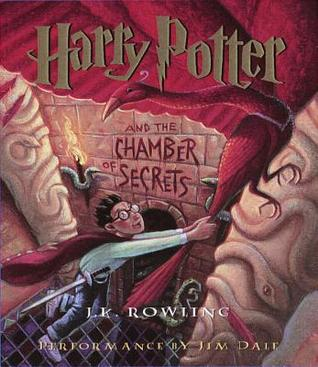 Audiobook cover: Harry Potter and the Chamber of Secrets by J. K. Rowling, read by Jim Dale