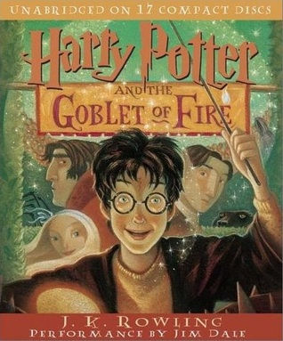 Audiobook cover: Harry Potter and the Goblet of Fire by J. K. Rowling