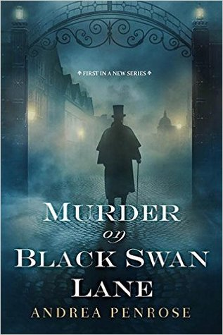 Book cover: Murder on Black Swan Lane, by Andrea Penrose