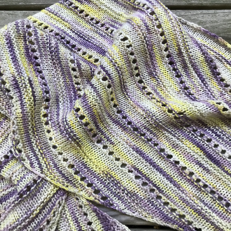 close-up of Crocus Asymmetrical Scarf