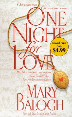 Book cover: One Night for Love, by Mary Balogh