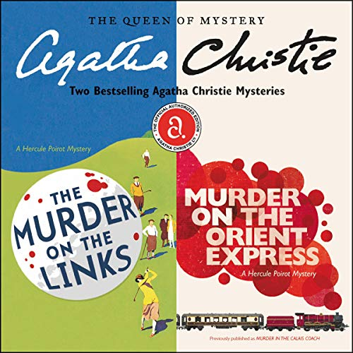 Audiobook Cover: The Murder on the Links, & Murder on the Orient Express, by Agatha Christie