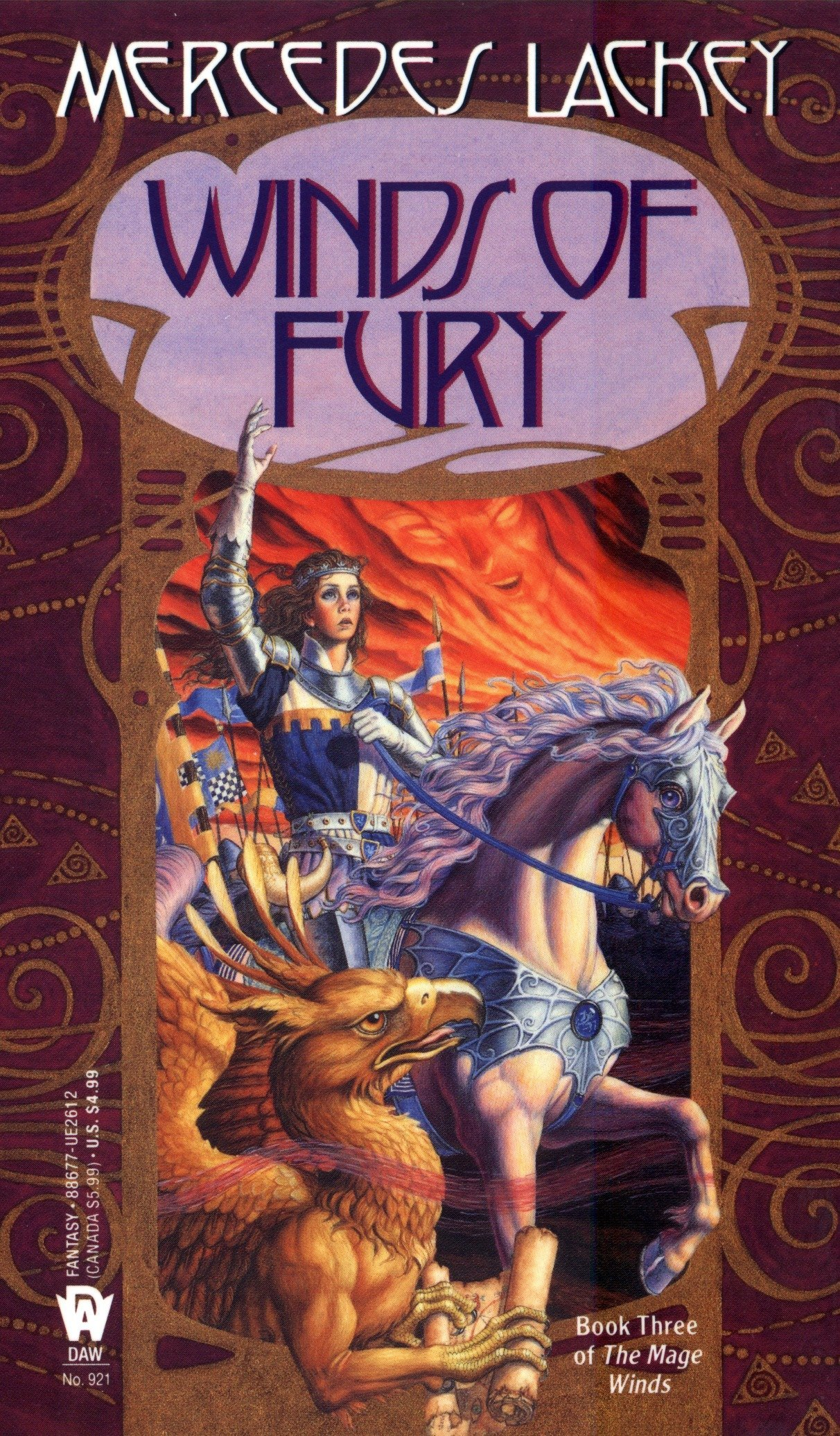 Book cover: Winds of Fury, by Mercedes Lackey