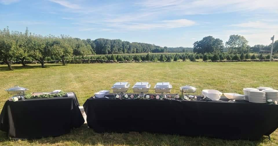 Comfort Catering wedding setup
