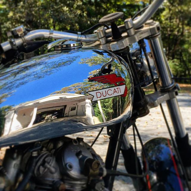 Repair and Test ride of this killer #vintage 250 #Ducati--Best way to enjoy a gorgeous #Ellijay Fall Saturday. #kickstartlife #rideyourownride #vintagemotorcycle