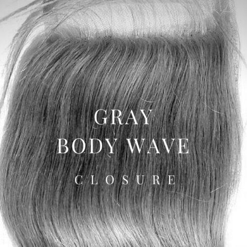 silver gray brazilian closure
