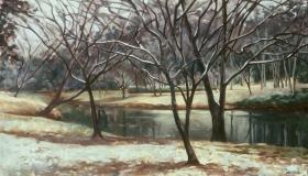 Snow on Turtle Creek