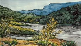 River at Dusk [SOLD]