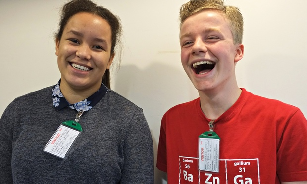 Emily Pemberton and George Watts from Cardiff, winners of the Steve Sinnott award, will travel to Bangladesh with the Send My Friend to School campaign, accompanied by the Guardian, in a year that 57 million children still don't get a primary education.