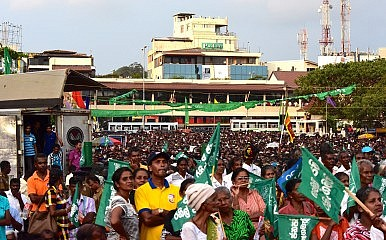 Opposition campaign rally in Galle, Sri Lanka, January 5, 2015. Image Credit: Victor Robert Lee