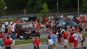 Cardinal tailgate for the Football Home opener against McDaniel.