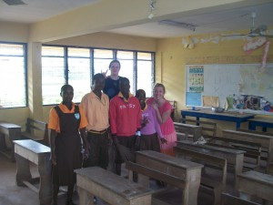 he classroom we helped clean up.