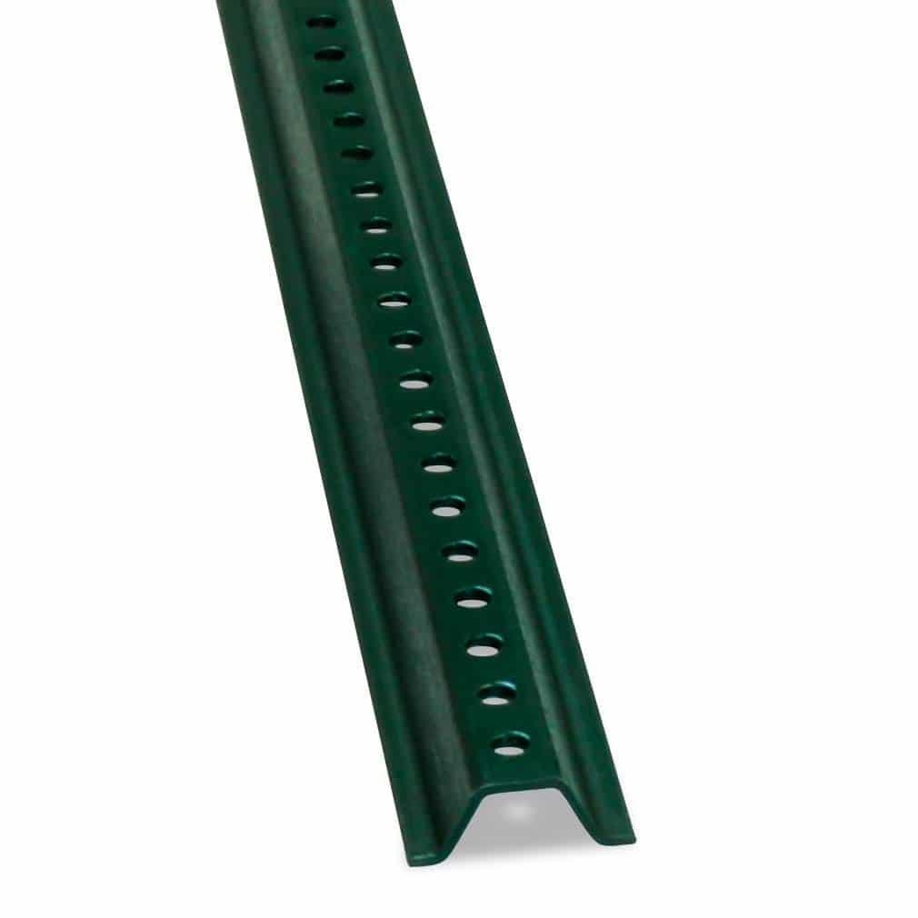 Single-green-baked-u-channel-post