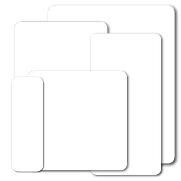 group-of-white-blank-signs