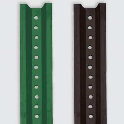u-channel-green-baked-enamel-posts