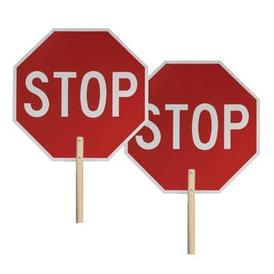 two-stop-sign-paddle-wood-handle