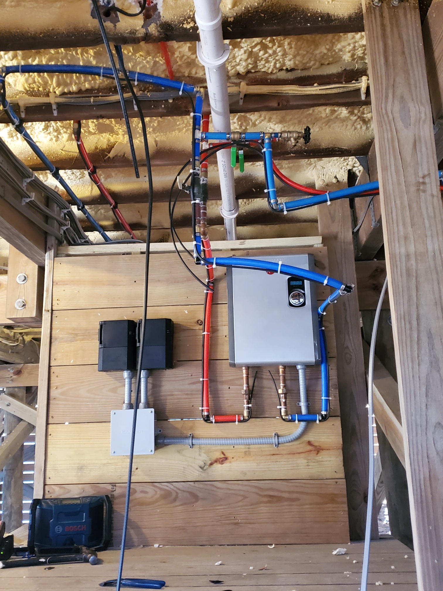 Heat trace wiring to keep pipes from freezing in Westhampton NY