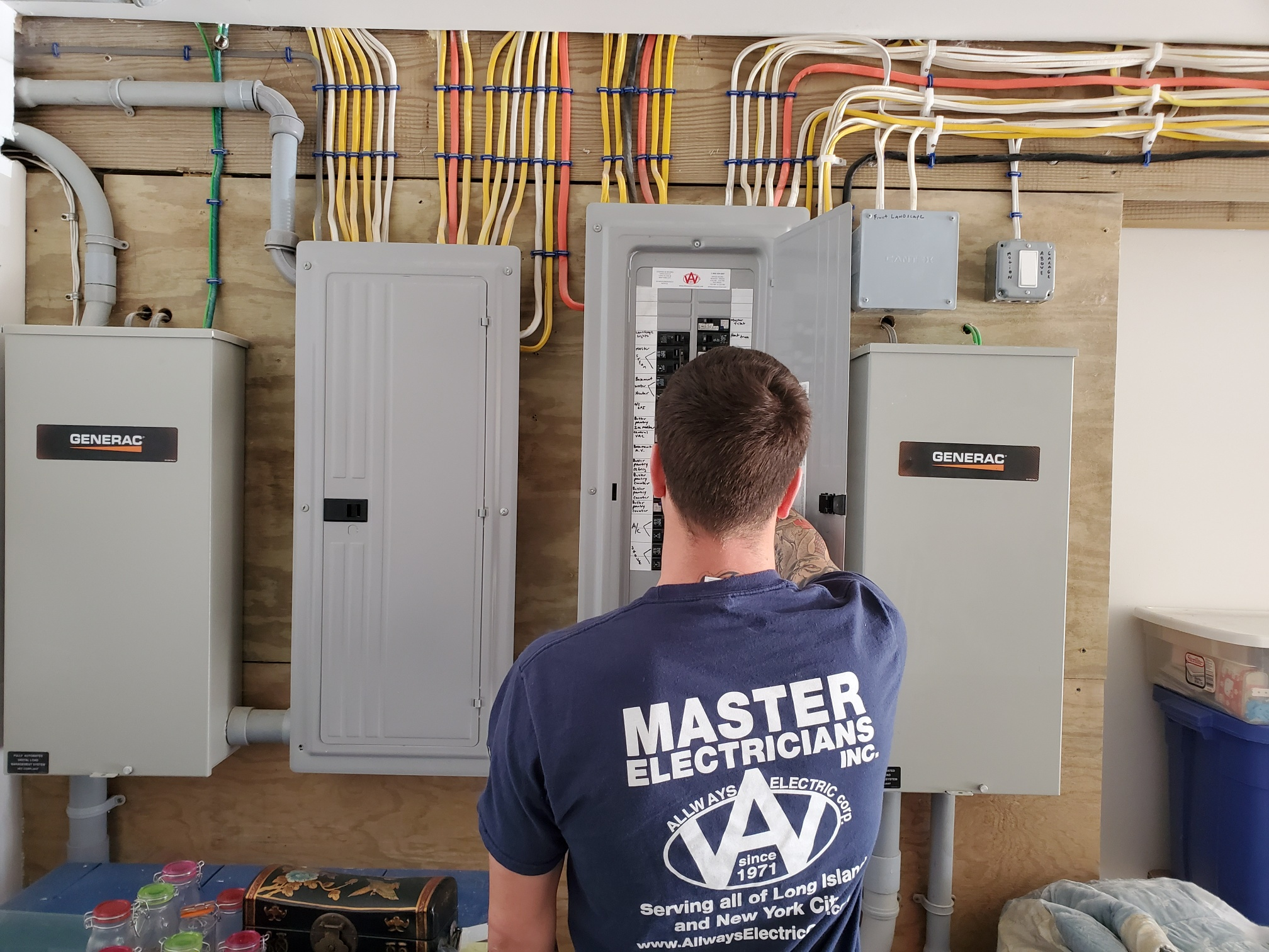 New Service Distribution Panels with Transfer Switches