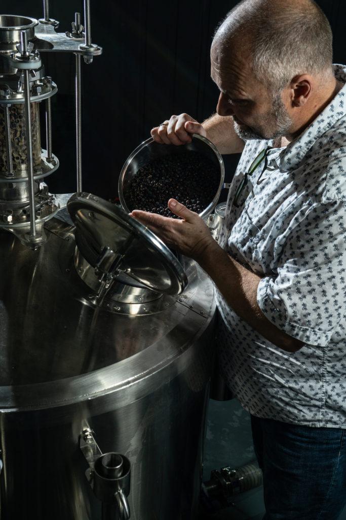 Tim Whitefield creating Tanglin Gin