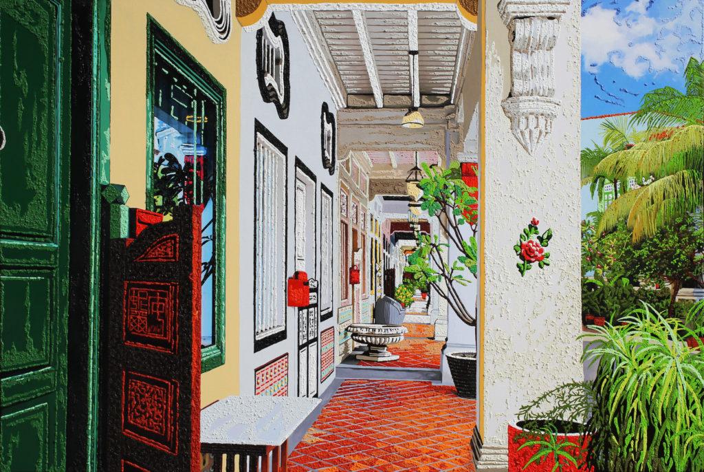 Art piece titled Five-foot way at Blair Road