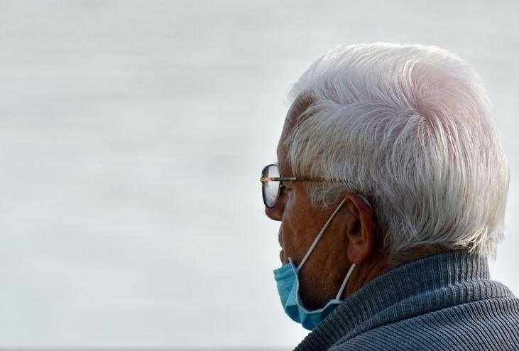 Old Man Wearing Face Mask
